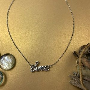 Brighton necklace silver love is all you need